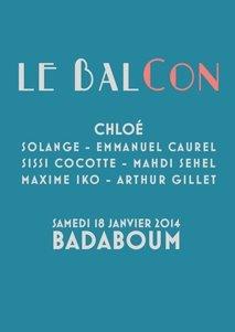 Le Balcon avec Chloé : samedi 18 janvier