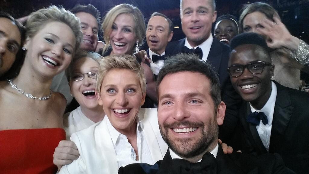 Oscars 2014 et le selfie d'Ellen DeGeneres