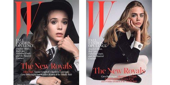 Ellen Page et Cara Delevingne en couverture de W Magazine