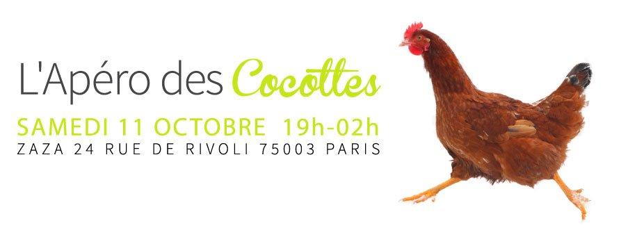 L'apéro des cocottes #2 : samedi 11 octobre