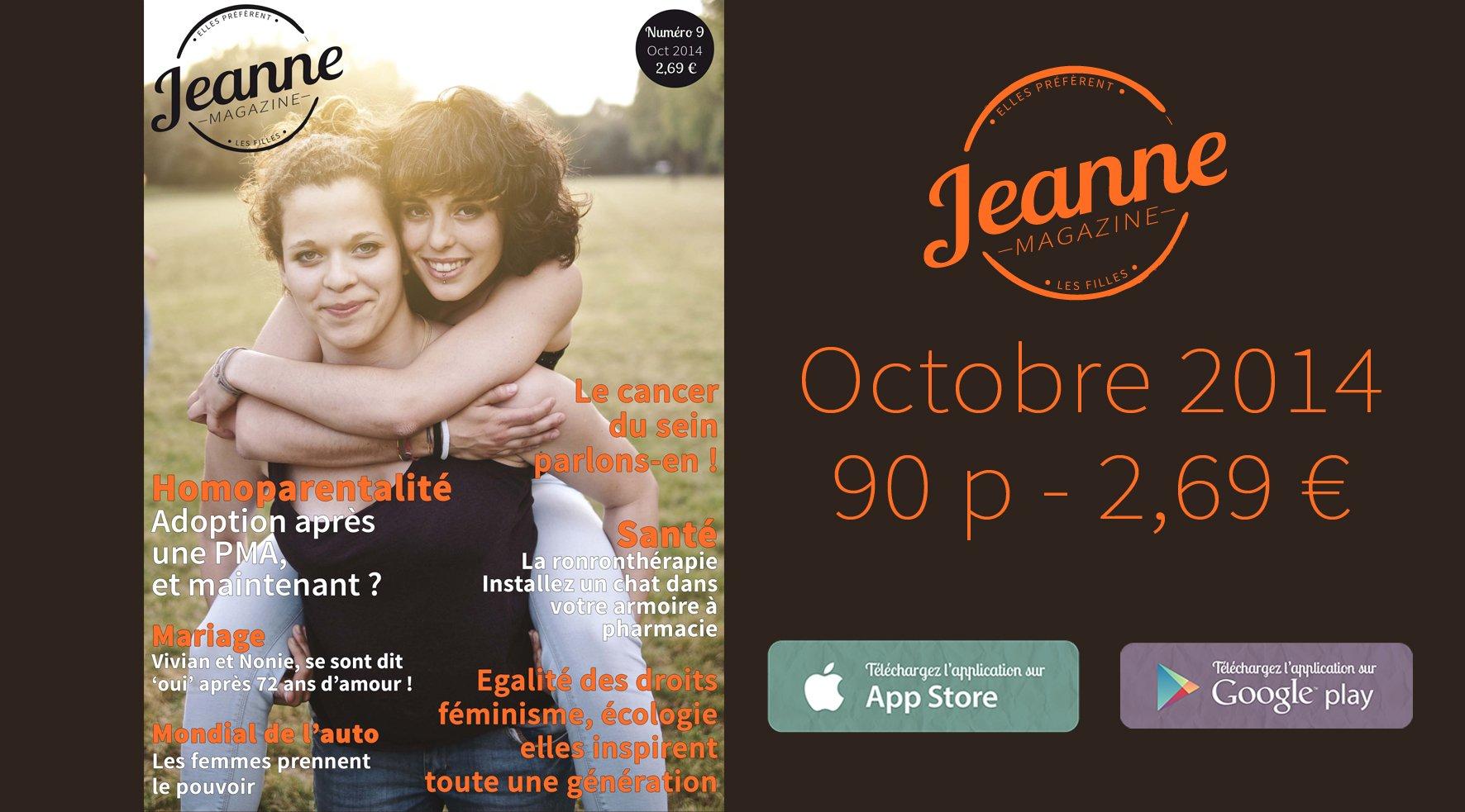 Sortie de Jeanne Magazine n°9 – octobre 2014