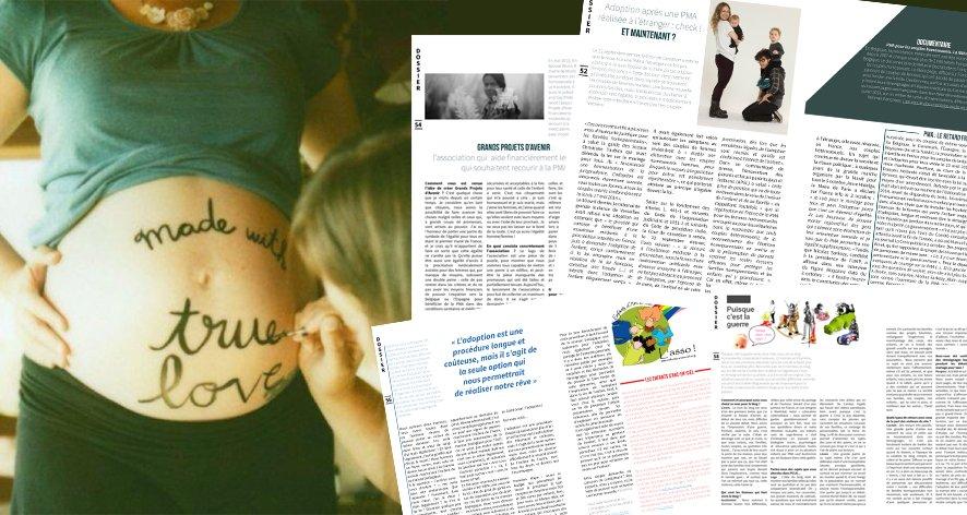 Focus sur l'homoparentalité dans Jeanne Magazine
