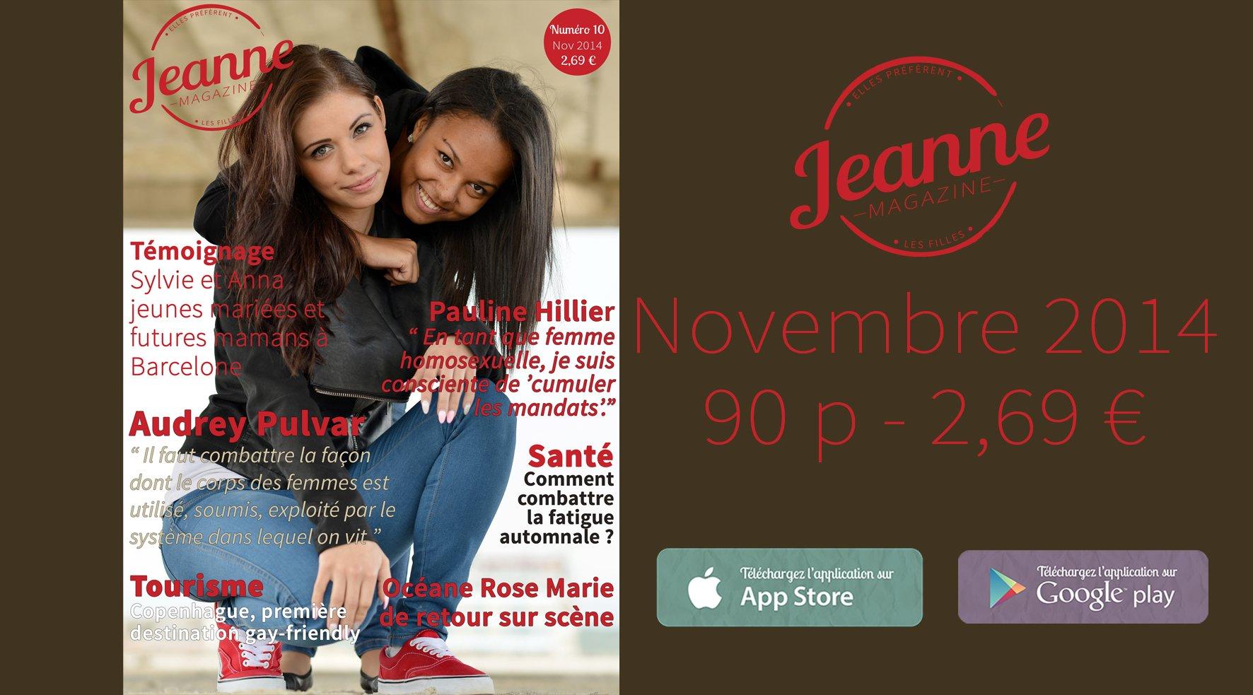 Sortie de Jeanne Magazine n°10 – novembre 2014