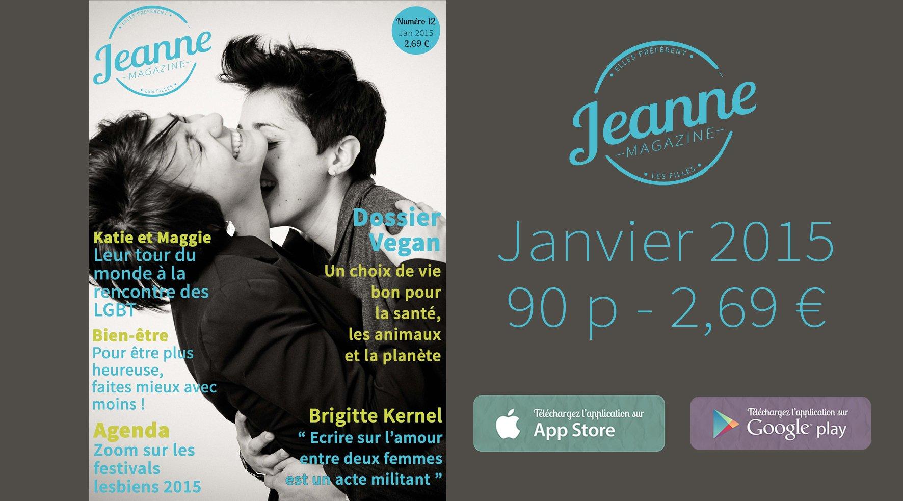 Sortie de Jeanne Magazine n°12 – janvier 2015