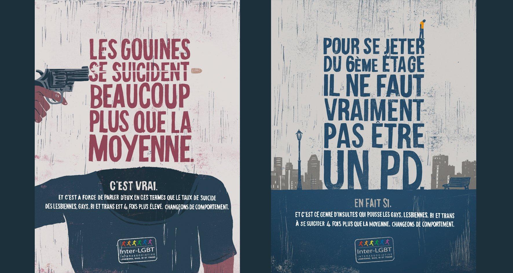 La campagne choc de l'Inter-LGBT contre le suicide