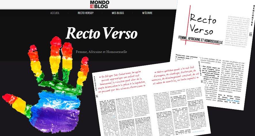Recto Verso, le blog d'une femme africaine et homosexuelle