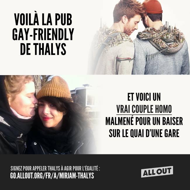 Lesbophobie de la part de Thalys : signez la pétition !