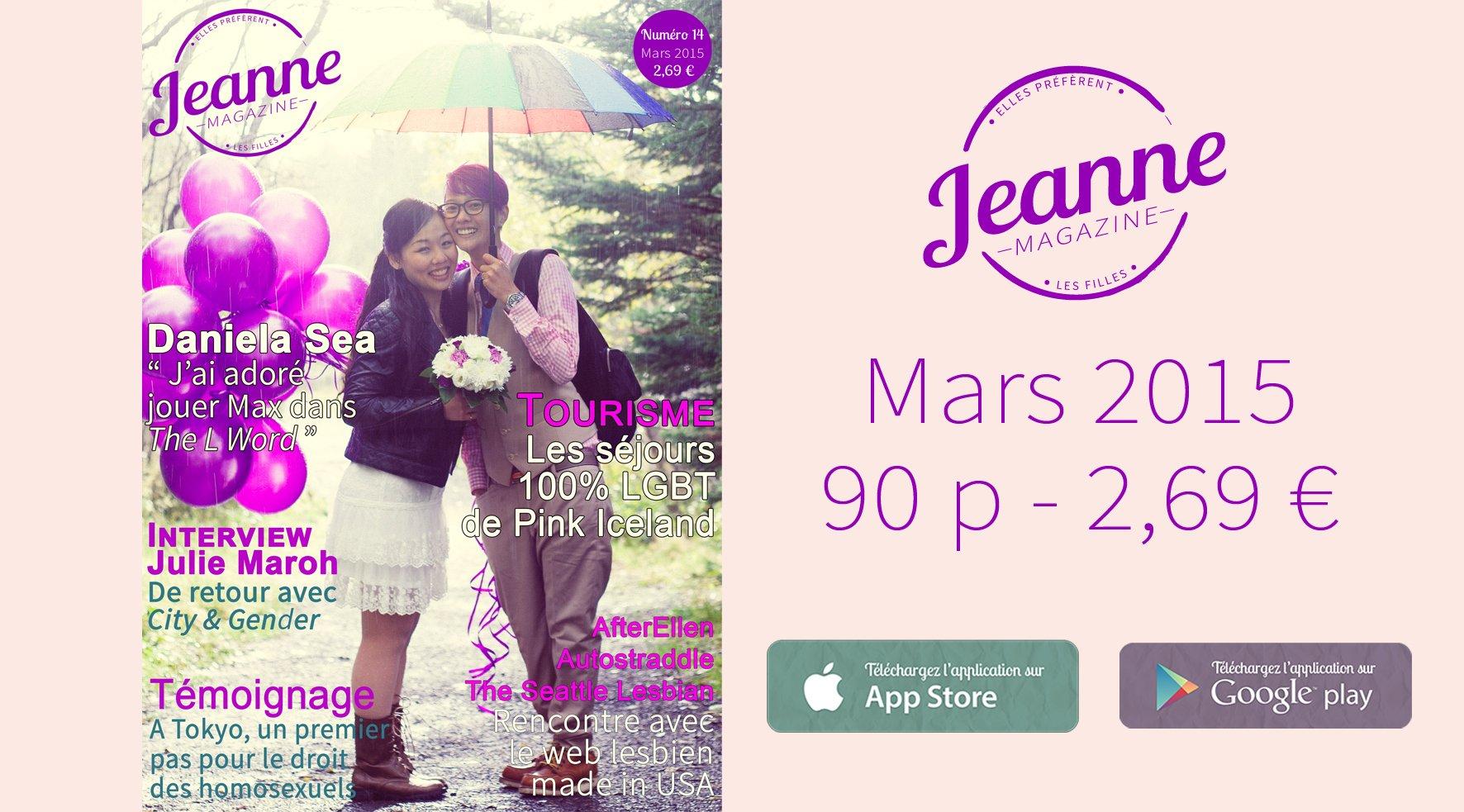 Sortie de Jeanne Magazine n°14 – mars 2015