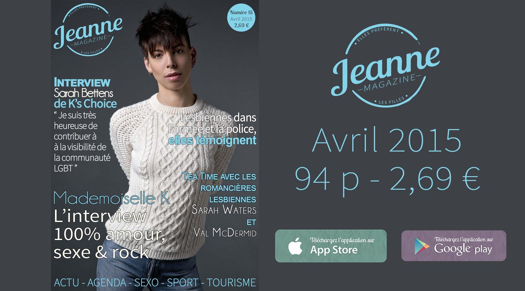 Sortie de Jeanne Magazine n°15 – avril 2015