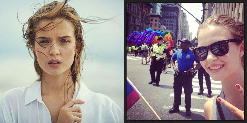 La top-modèle Josephine Skriver fière d'être une «rainbow kid»
