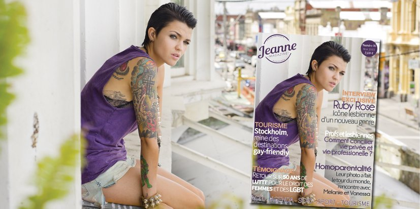 Ruby Rose en interview dans Jeanne Magazine