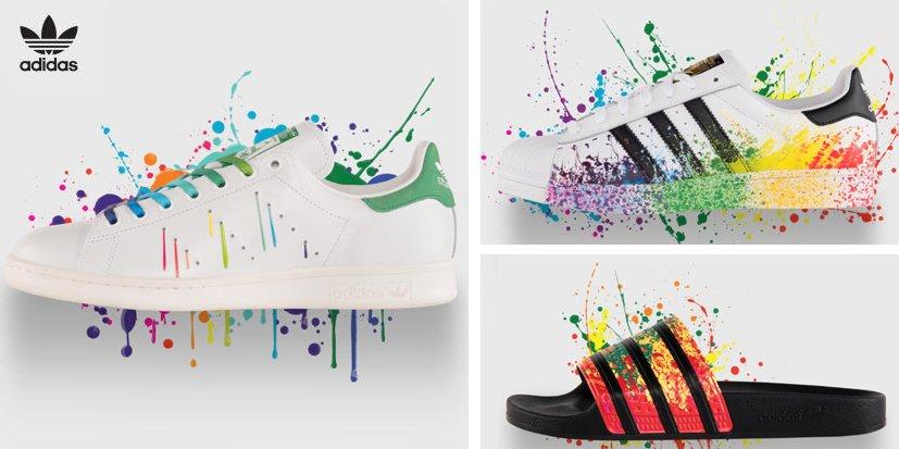 Adidas célèbre le mois de la fierté LGBT en sortant le « Pride Pack »