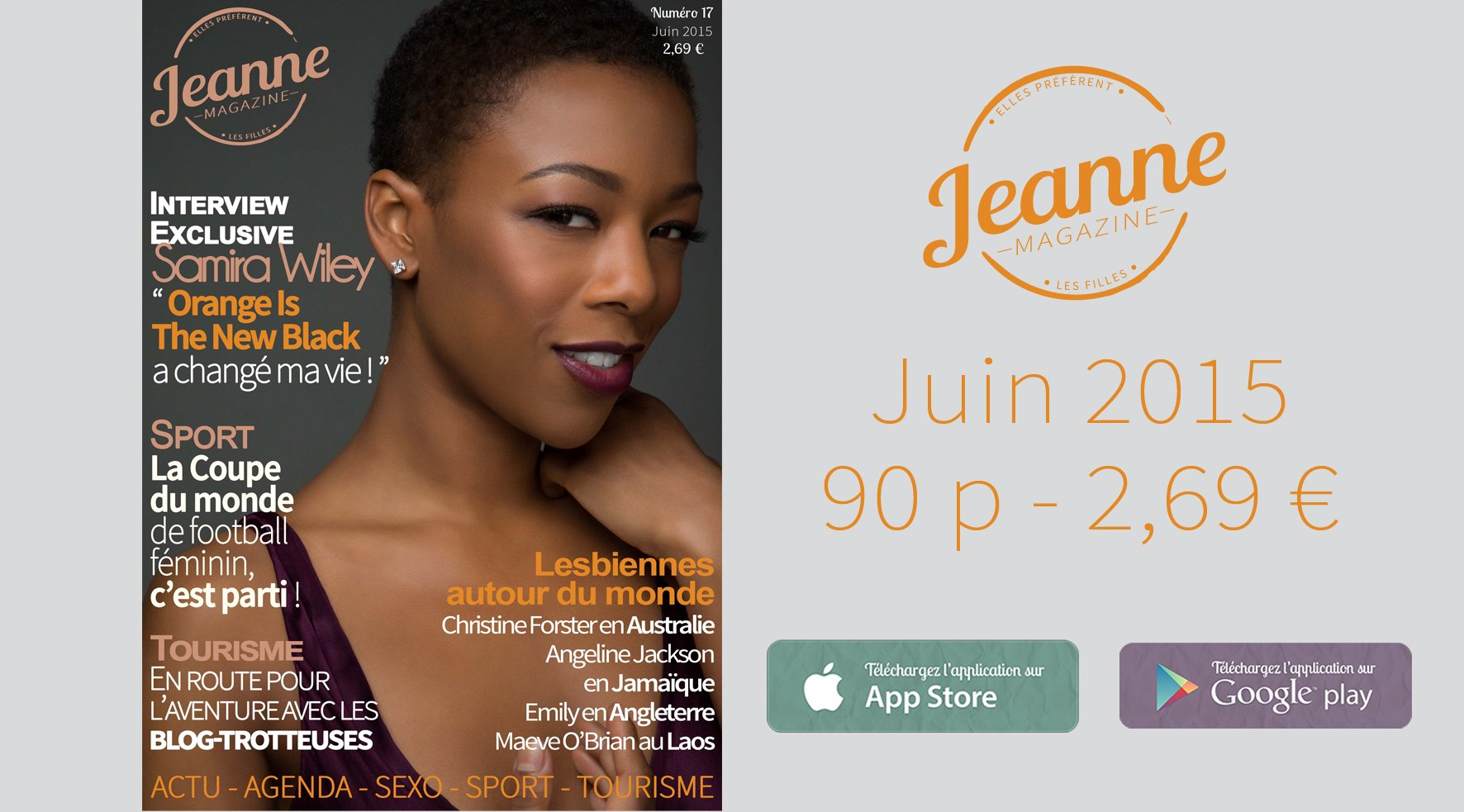 Sortie de Jeanne Magazine n°17 – juin 2015