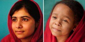 Lily pose comme Malala