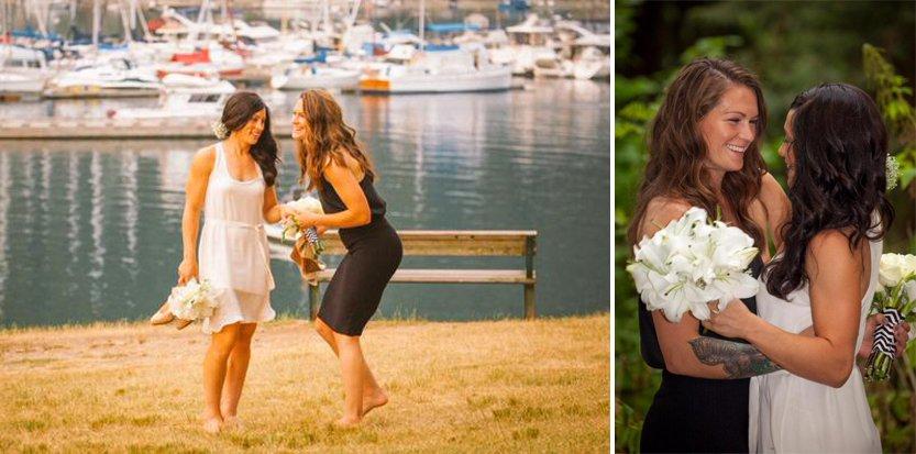 Les footballeuses Erin McLeod et Ella Masar se sont mariées