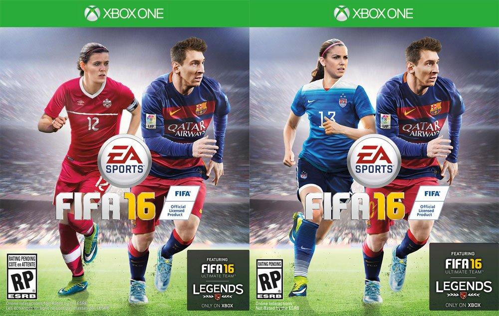FIFA 16 : Alex Morgan, Christine Sinclair et Stephanie Catley, premières femmes en couverture du jeu vidéo
