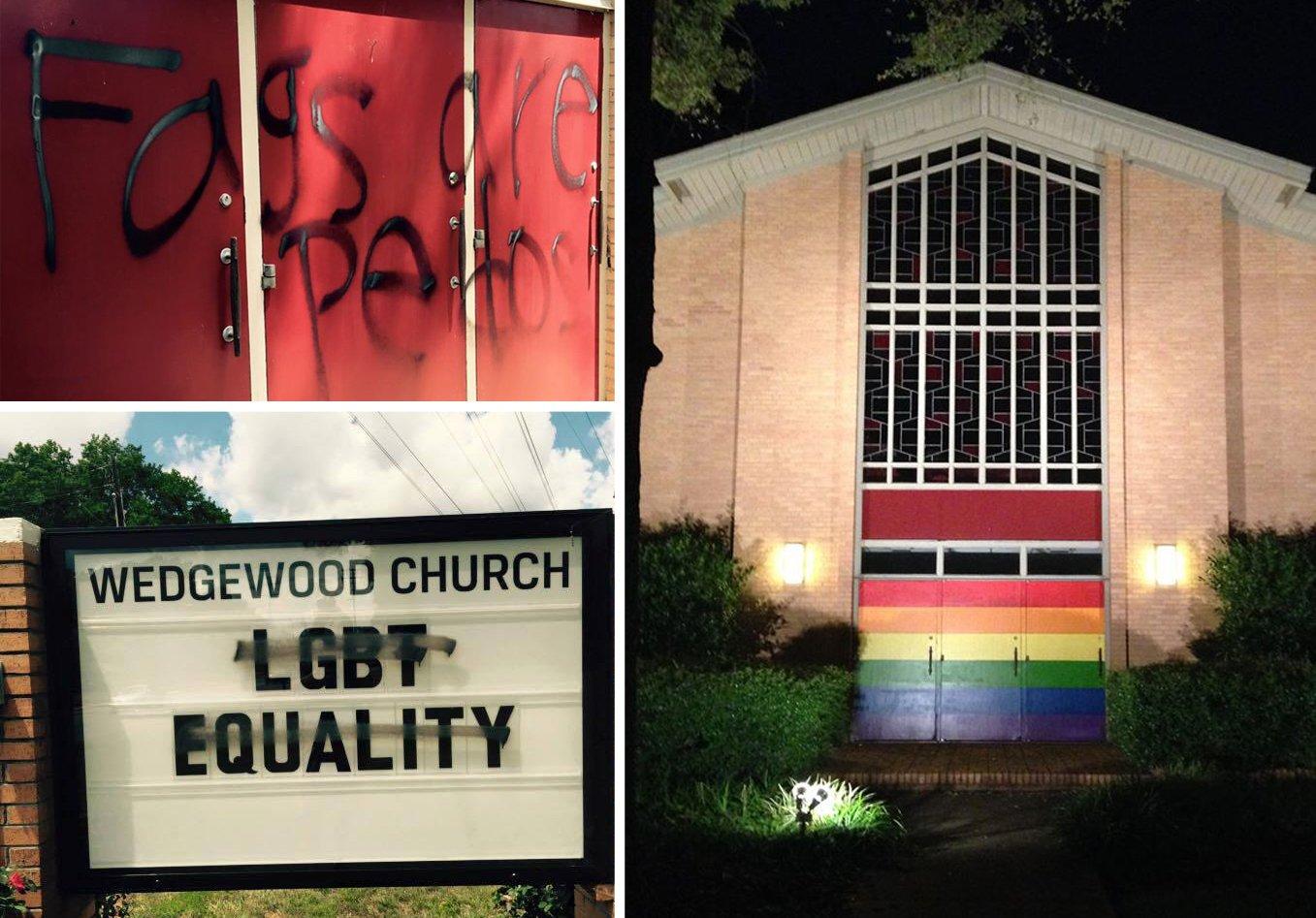Etats-Unis : la très belle réponse d'une église gay-friendly vandalisée par des homophobes