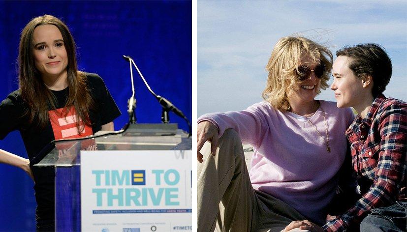 Ellen Page « Si je devais incarner des personnages homos pour le reste de ma carrière, j'en serais très heureuse. »