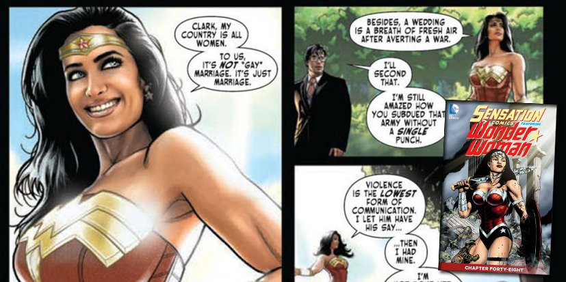 Wonder Woman marie un couple de femmes