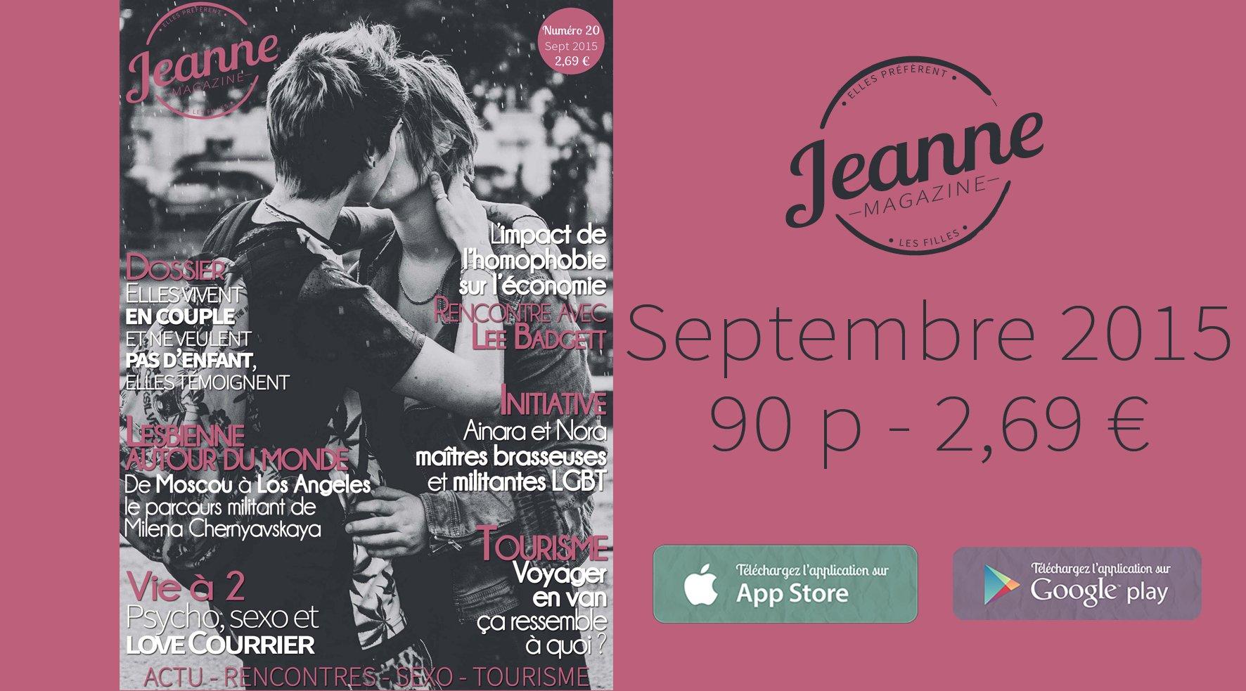 Sortie de Jeanne Magazine n°20 – septembre 2015