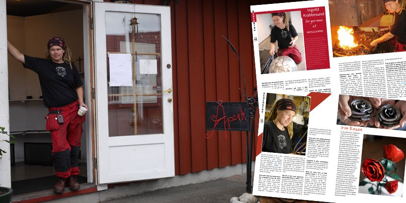 Ingvild Krabbesund, forgeronne et musicienne à Oslo en Norvège