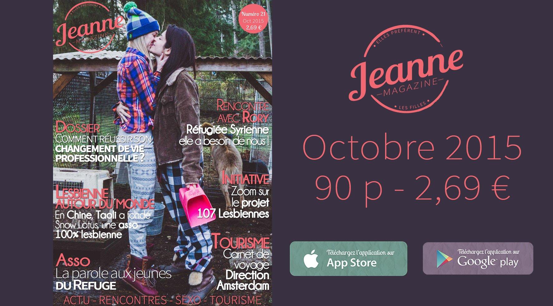 Sortie de Jeanne Magazine n°21 – octobre 2015