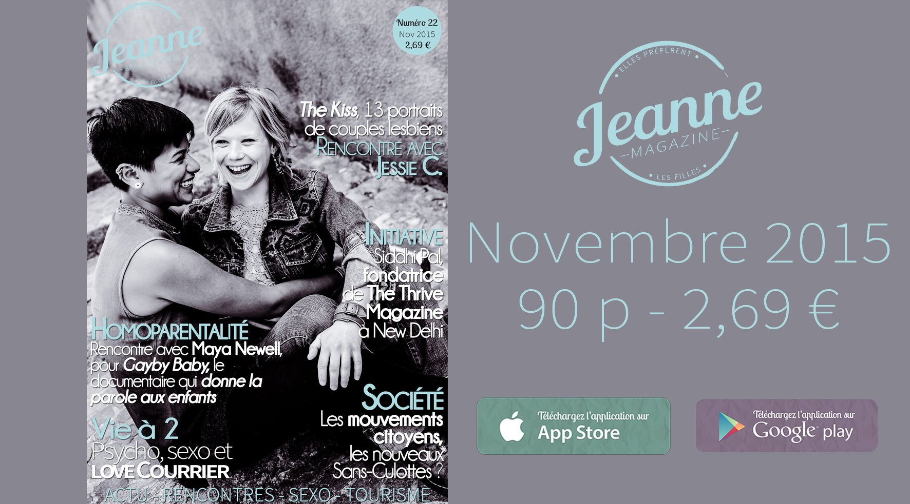 Sortie de Jeanne Magazine n°22 – novembre 2015