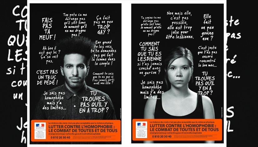Lutte contre l'homophobie : une campagne pour prévenir les violences et les discriminations et accompagner les victimes