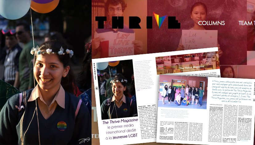 The Thrive Magazine, le premier média international dédié à la jeunesse LGBT