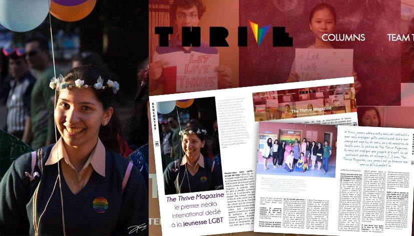 The Thrive Magazine, le premier média international dédié à la jeunesse LGBT