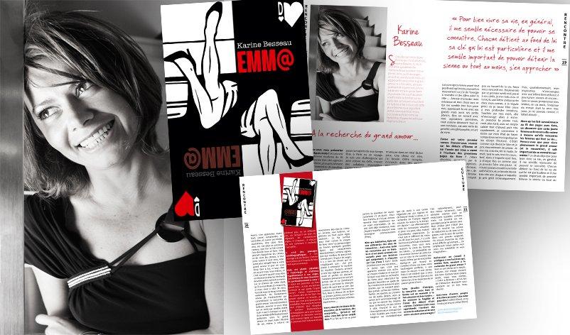 Rencontre avec Karine Besseau pour son roman Emm@
