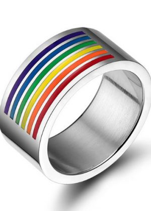 Bague rainbow large