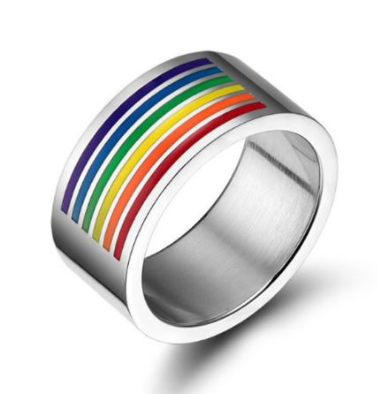 Bague rainbow large