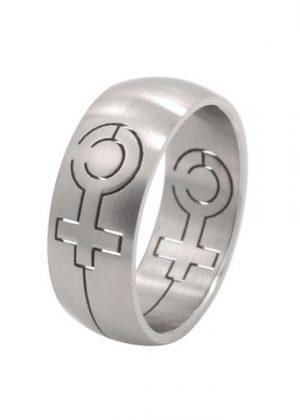 Bague symbole féminin