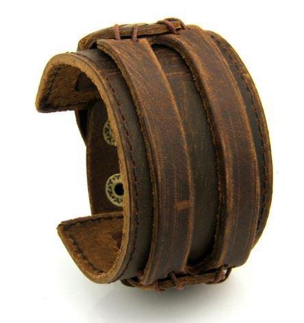Bracelet de force cuir marron