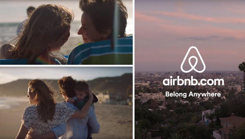 Une famille homoparentale dans une pub Airbnb
