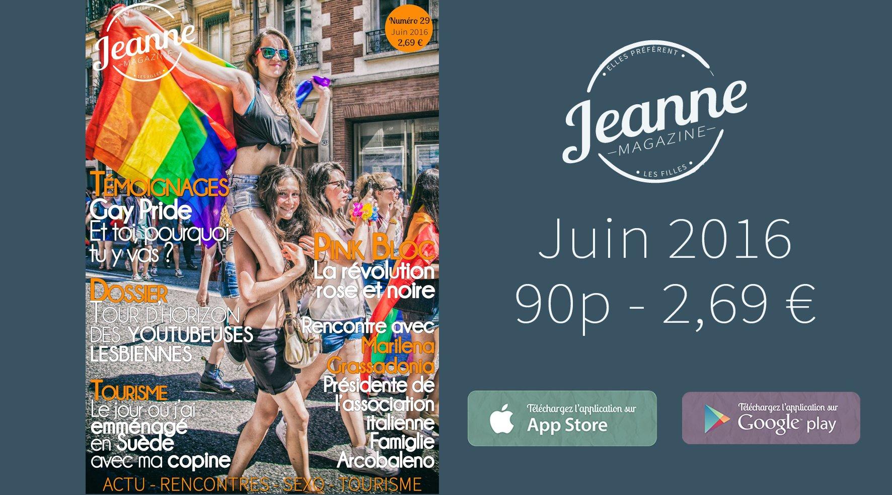Sortie de Jeanne Magazine n°29 – juin 2016