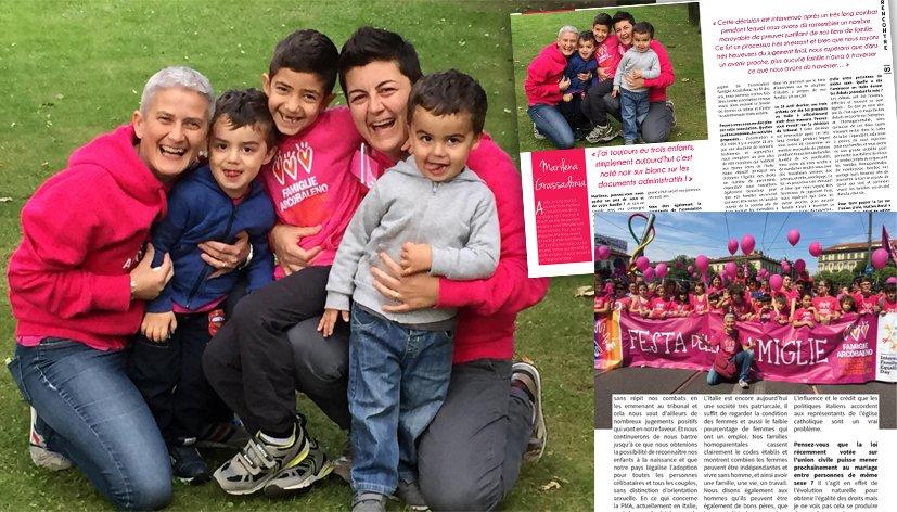 Italie : Rencontre avec Marilena Grassadonia, présidente de l'association homoparentale Famiglie Arcobaleno
