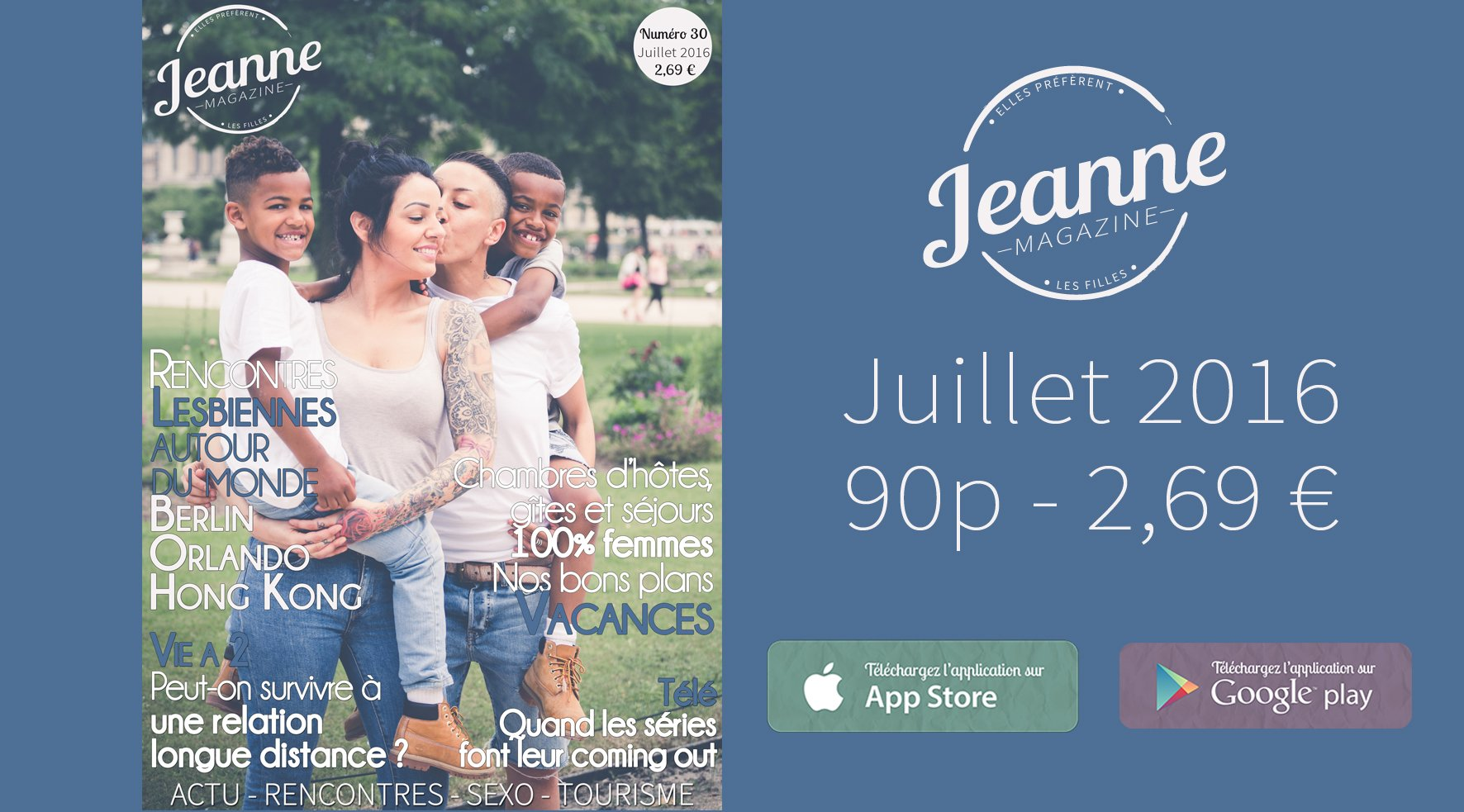 Sortie de Jeanne Magazine n°30 – juillet 2016