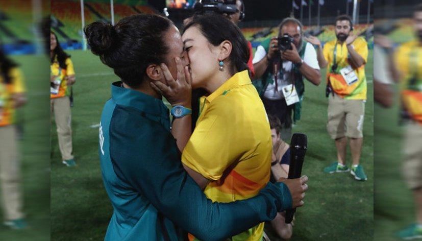 Rio 2016 : Une demande en mariage après la finale du rugby à 7 féminin