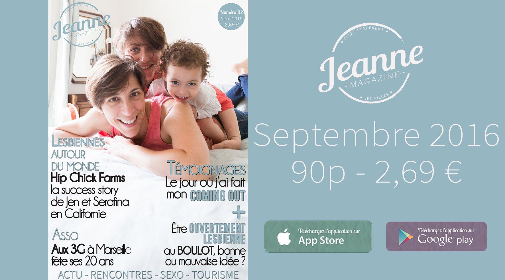 Sortie de Jeanne Magazine n°32 – septembre 2016