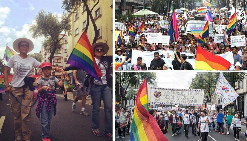 Mexico : Des centaines de personnes ont marché pour soutenir les droits des homosexuels