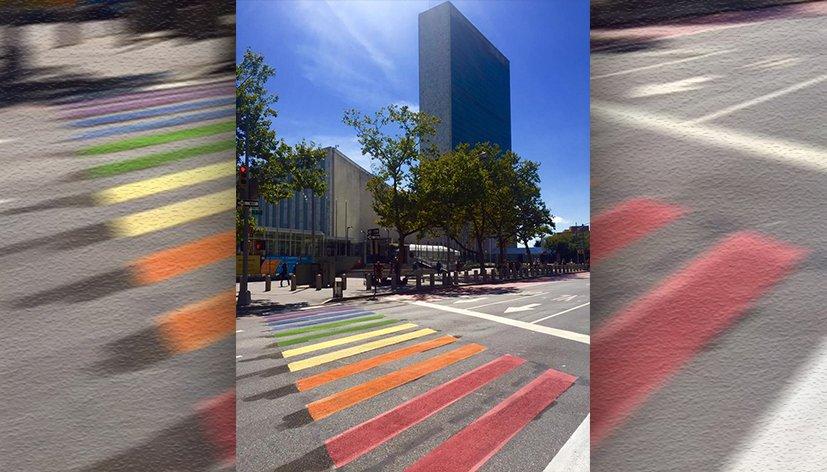 « Le Chemin vers l'Egalité » installé devant le siège de l'ONU