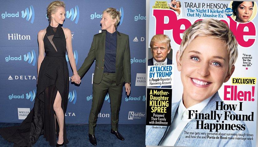 Ellen DeGeneres «chanceuse» d'avoir épousé la femme de sa vie