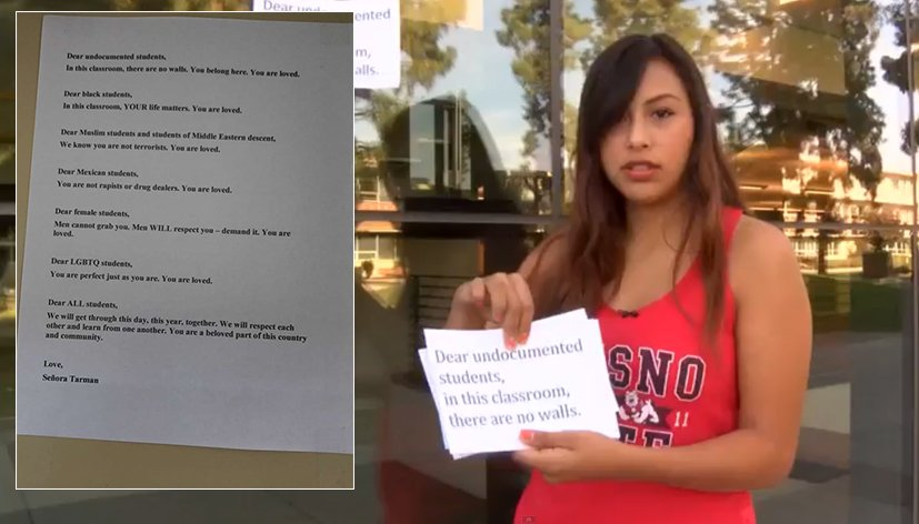 Etats-Unis : Le message de soutien d'une prof aux minorités visées par Trump
