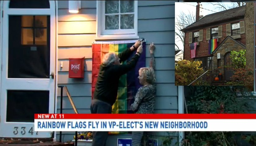 Etats-Unis : les voisins de Mike Pence installent des drapeaux rainbow en soutien à la communauté LGBT