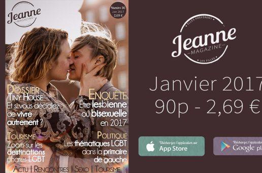 Sortie de Jeanne Magazine n°36 – janvier 2017