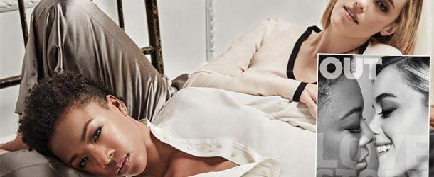 Samira Wiley et sa fiancée Lauren Morelli en couverture du magazine Out