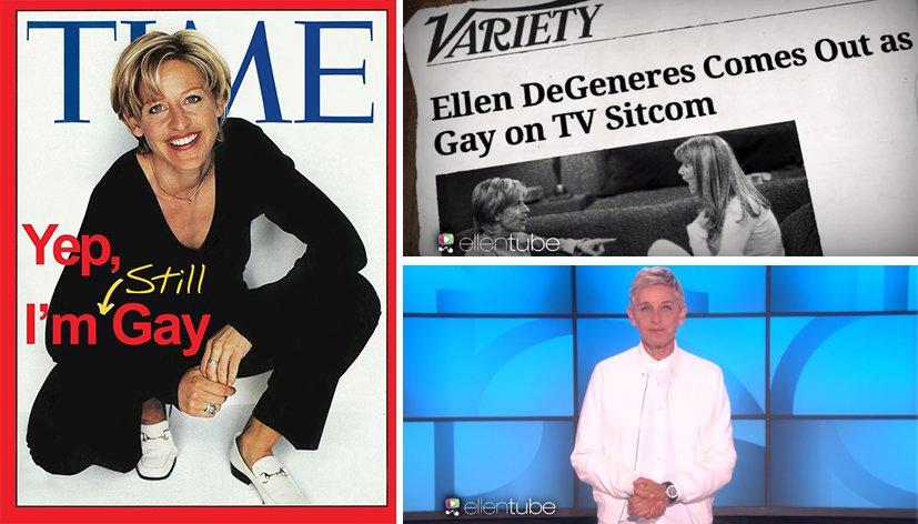 Ellen DeGeneres célèbre les 20 ans de son coming out