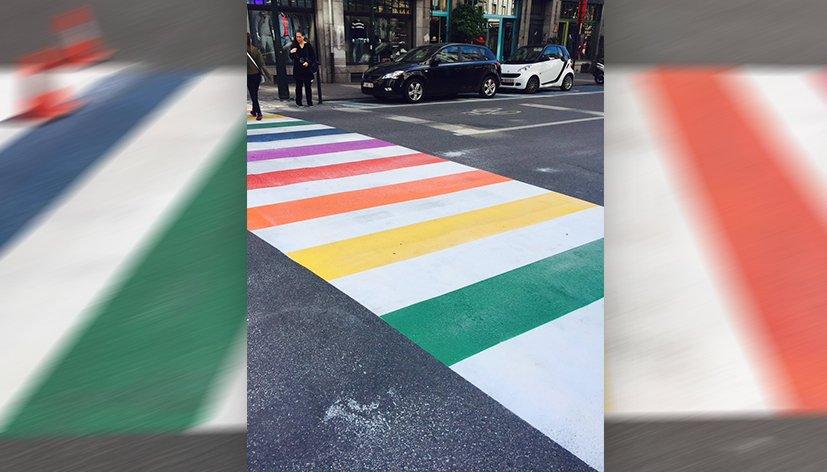 Bruxelles : des passages piétons arc-en-ciel pour célébrer la Belgian Pride